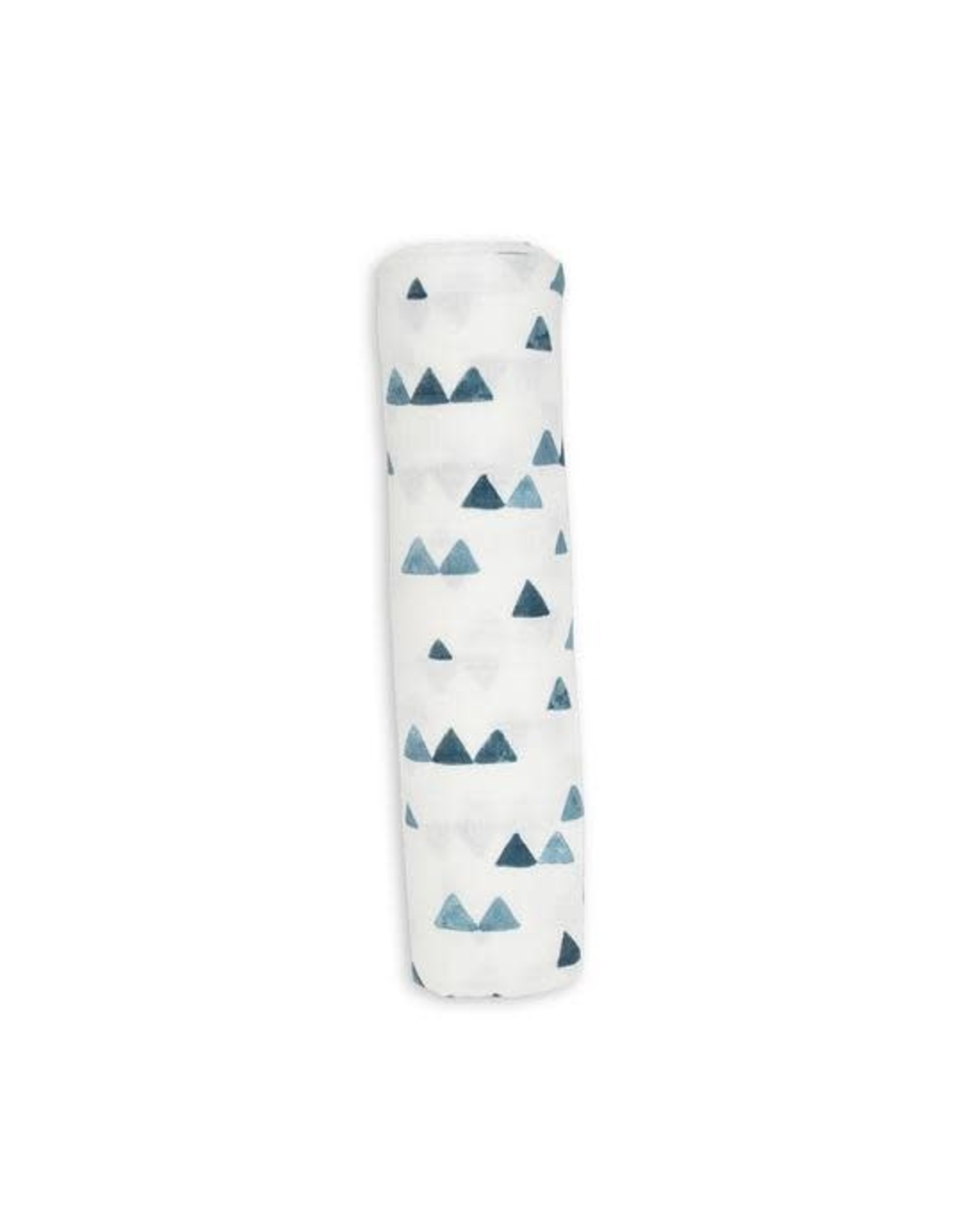 Lulujo Baby Lulujo Bamboo Cotton Swaddle, Navy Triangles