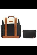 JJ Cole Bloomfield Diaper Bag, Onyx & Ivory