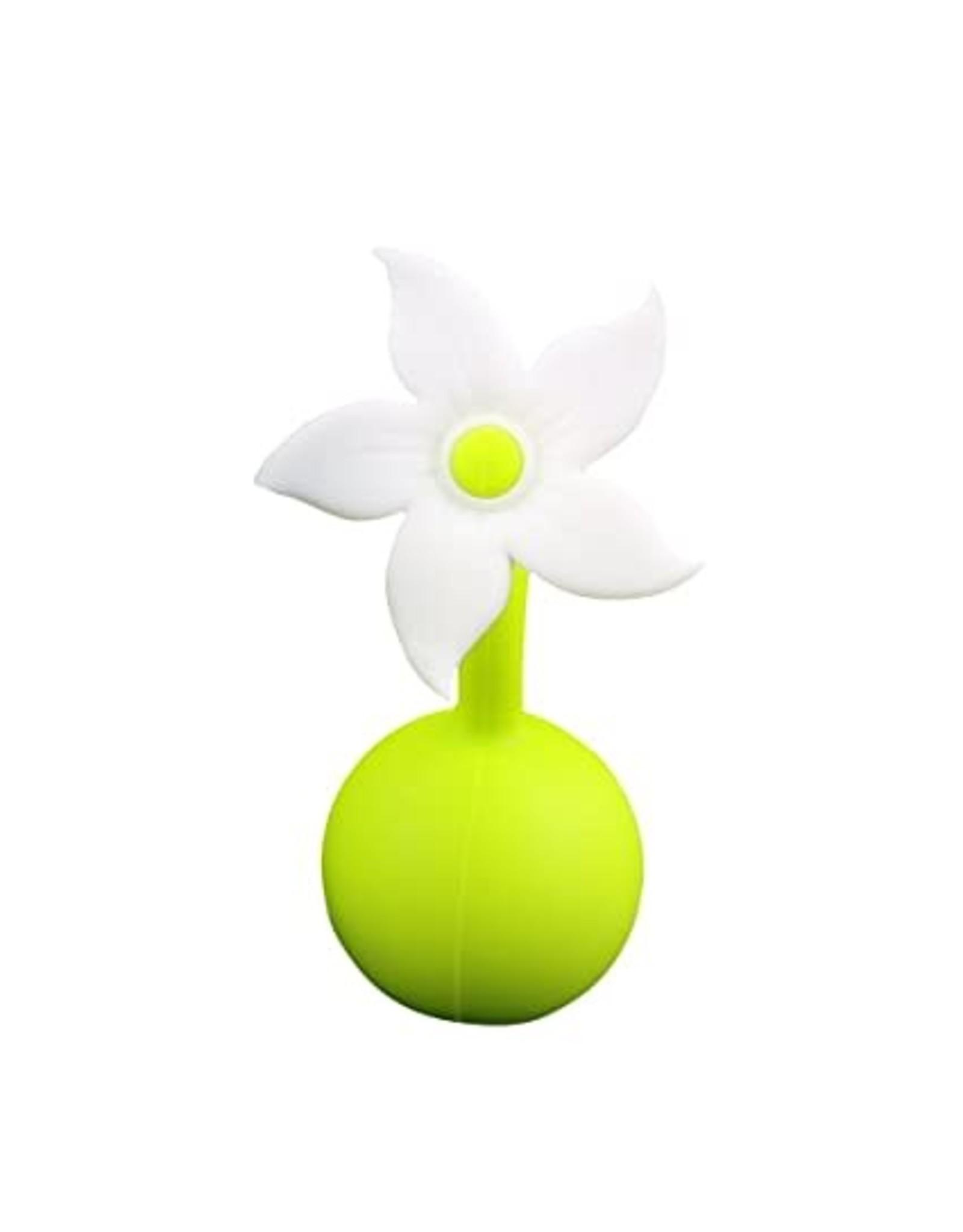 Haakaa Haakaa Breast Pump Flower Stopper, White