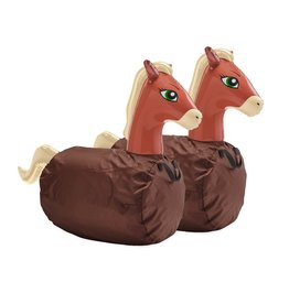 HearthSong Inflatable Ride-On Hop 'n Go Horses, Set of 2