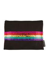 Fashion Angels Rainbow Sequin Stripe Pouch