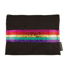 Fashion Angels Rainbow Sequin Stripe Pouch