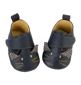 Moulin Roty Pachats, cat leather slippers (6-12 months)