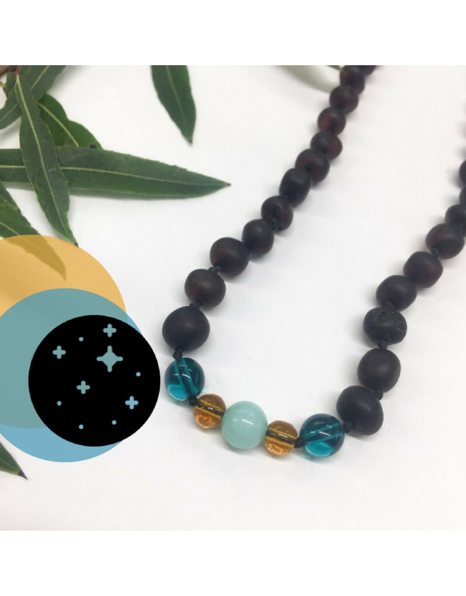 "Healing Hazel Healing Hazel Necklace 11"", Amber Moon"