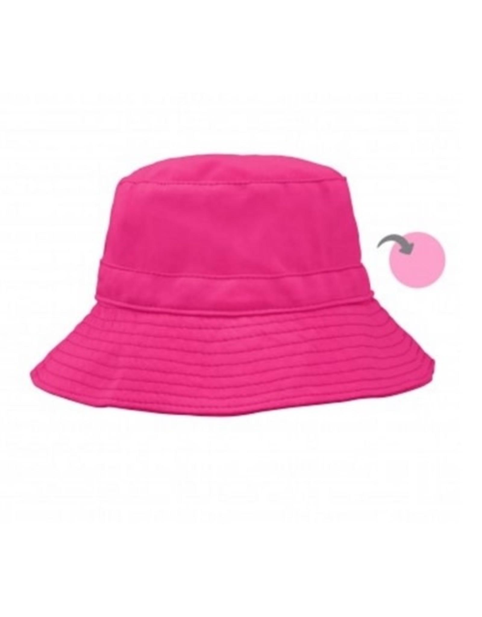iPlay Reversible Bucket Hat, Pink, 0-6 months