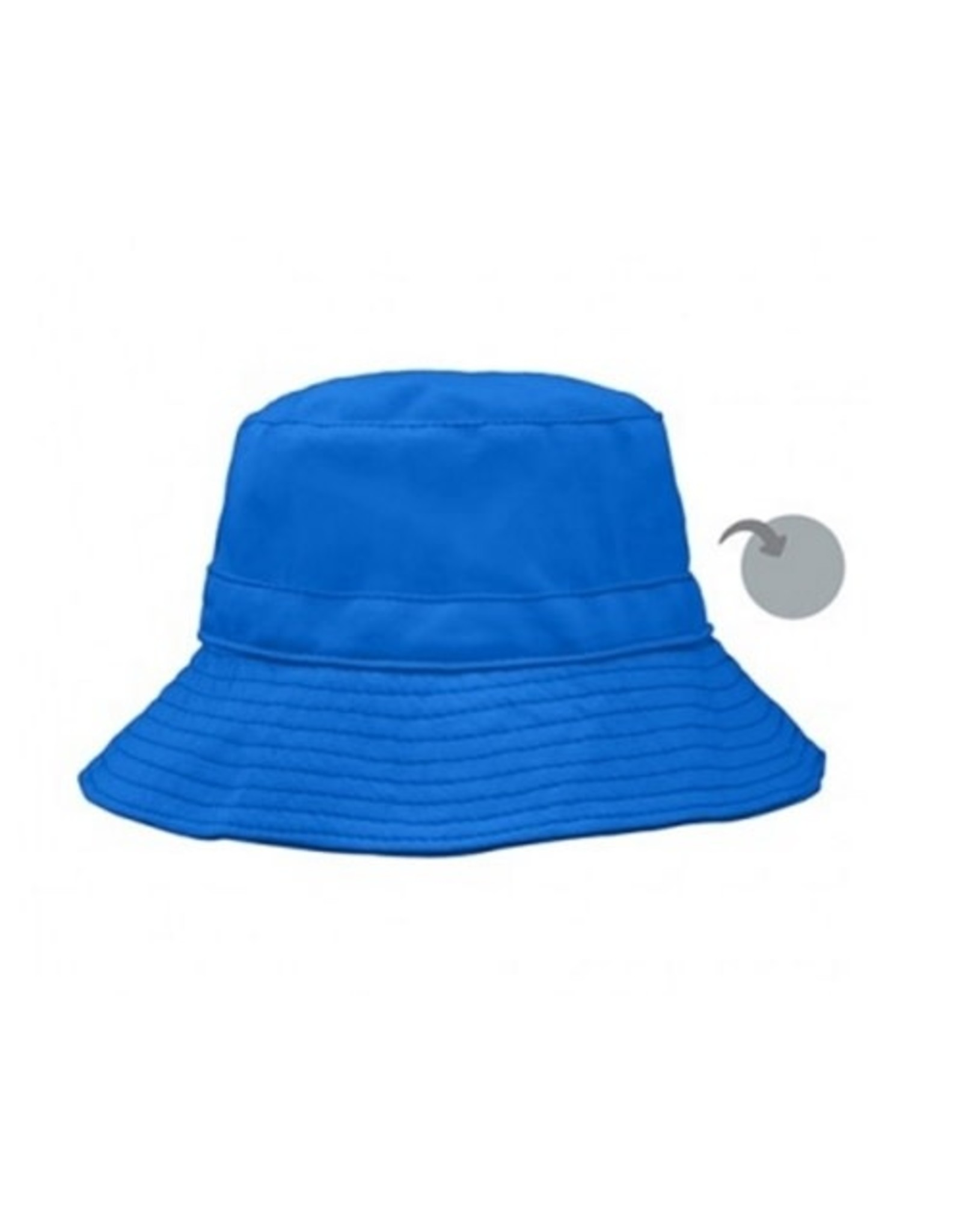 iPlay Reversible Bucket Hat, Blue/Grey, 0-6 months