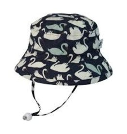Puffin Gear Camp Hat, Navy Swan, 3-6 months