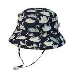 Puffin Gear Camp Hat, Navy Swan, 3-6 months