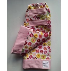 Quilty Pants Pink and Green Floral