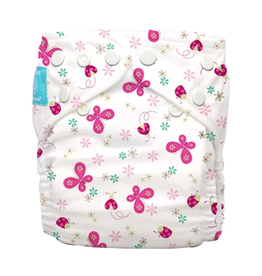 Charlie Banana One Size Diaper with 2 Inserts Butterfly