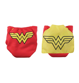 Bumkins Snap-in-One Cloth Diaper with Cape Wonder Woman