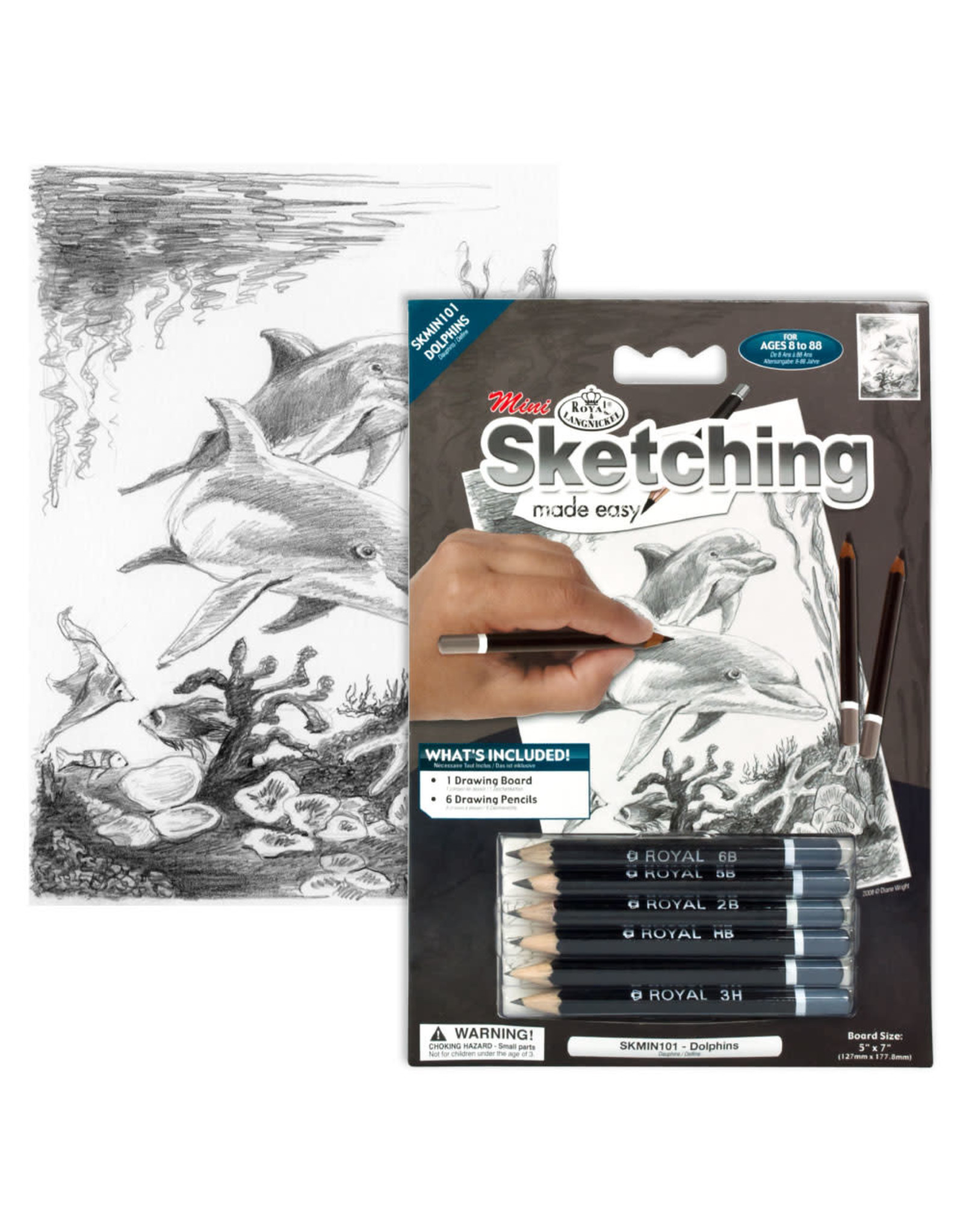 Royal and Langnickel Mini Sketching Made Easy, Dolphins