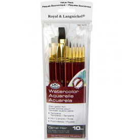 Royal and Langnickel 10 pc Sable-Camel Brush Set
