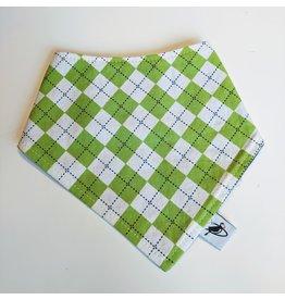 Puffin Gear Cotton Drool Bib, Green Checkered