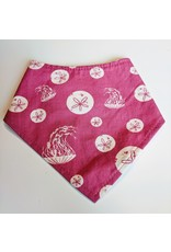 Puffin Gear Organic Cotton Drool Bib, Pink Jellies