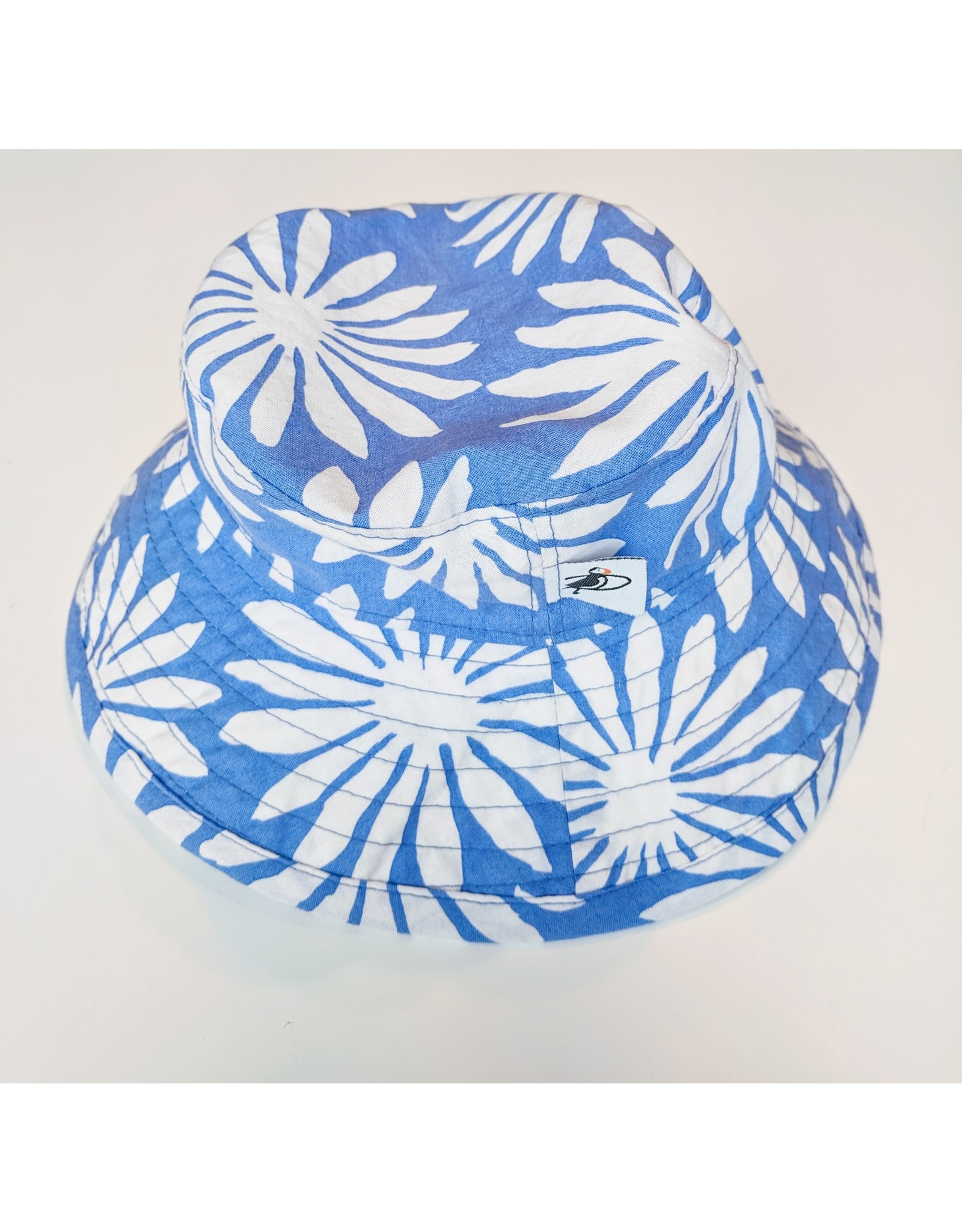 Puffin Gear Sunbaby Hat, Blue Daisy, 3-6 months