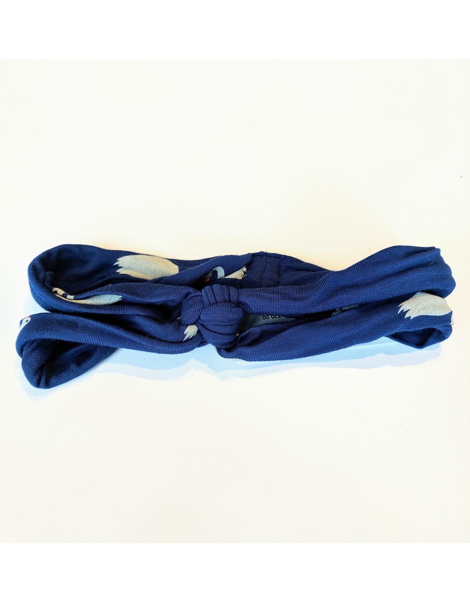 KicKee Pants Kickee Pants Print Knot Headband, Navy Queen's Swans, One Size