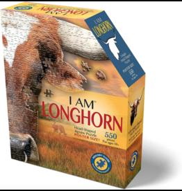 Madd Capp 550 pcs. I Am Longhorn Shaped Puzzle