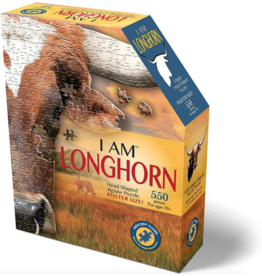 Madd Capp 550 Piece I Am Longhorn Shaped Puzzle