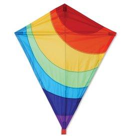 """Premier Kites 25"""" Diamond Kite, Radiant Rainbow"""