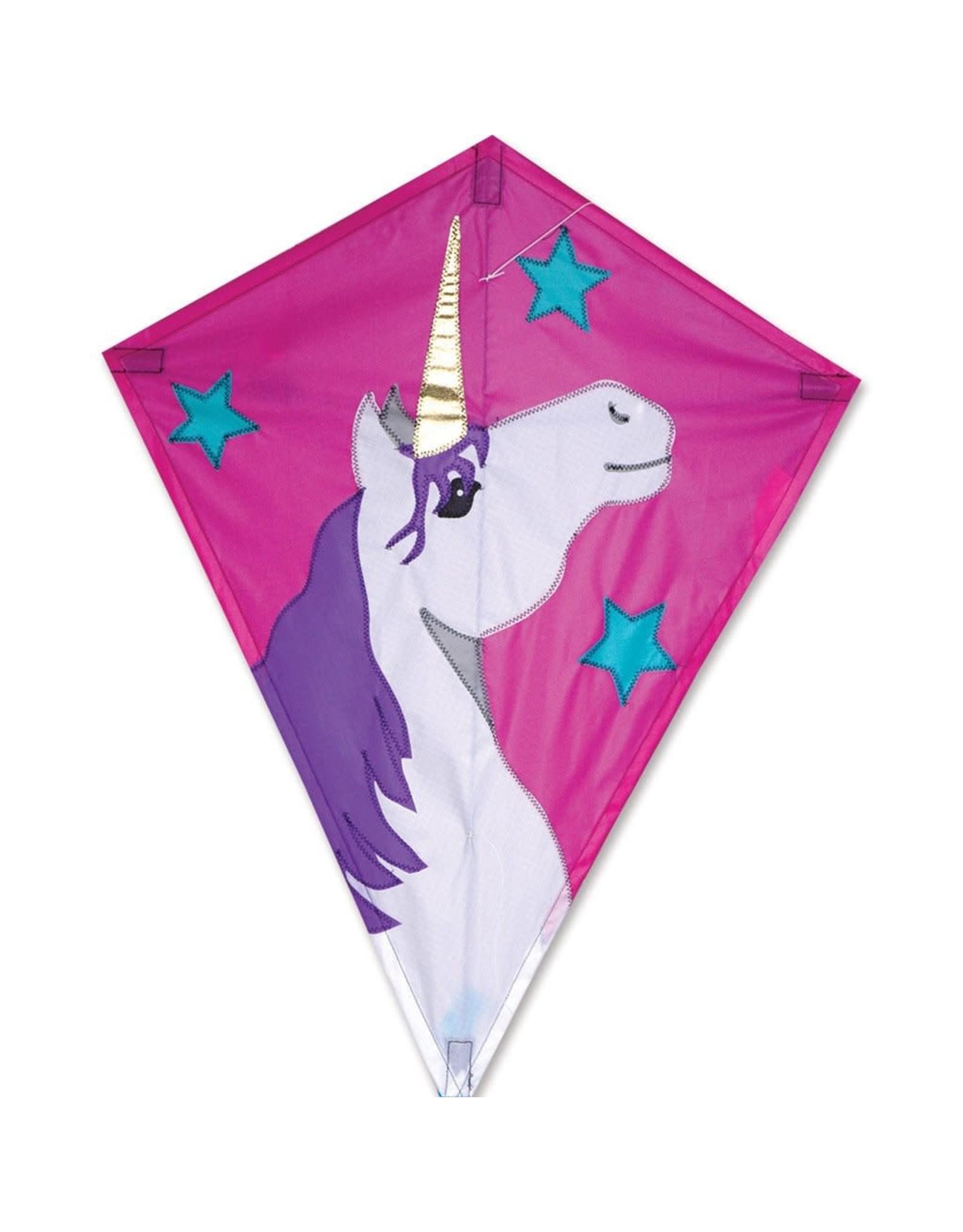 """Premier Kites 25"""" Diamond Kite, Lucky Unicorn"""