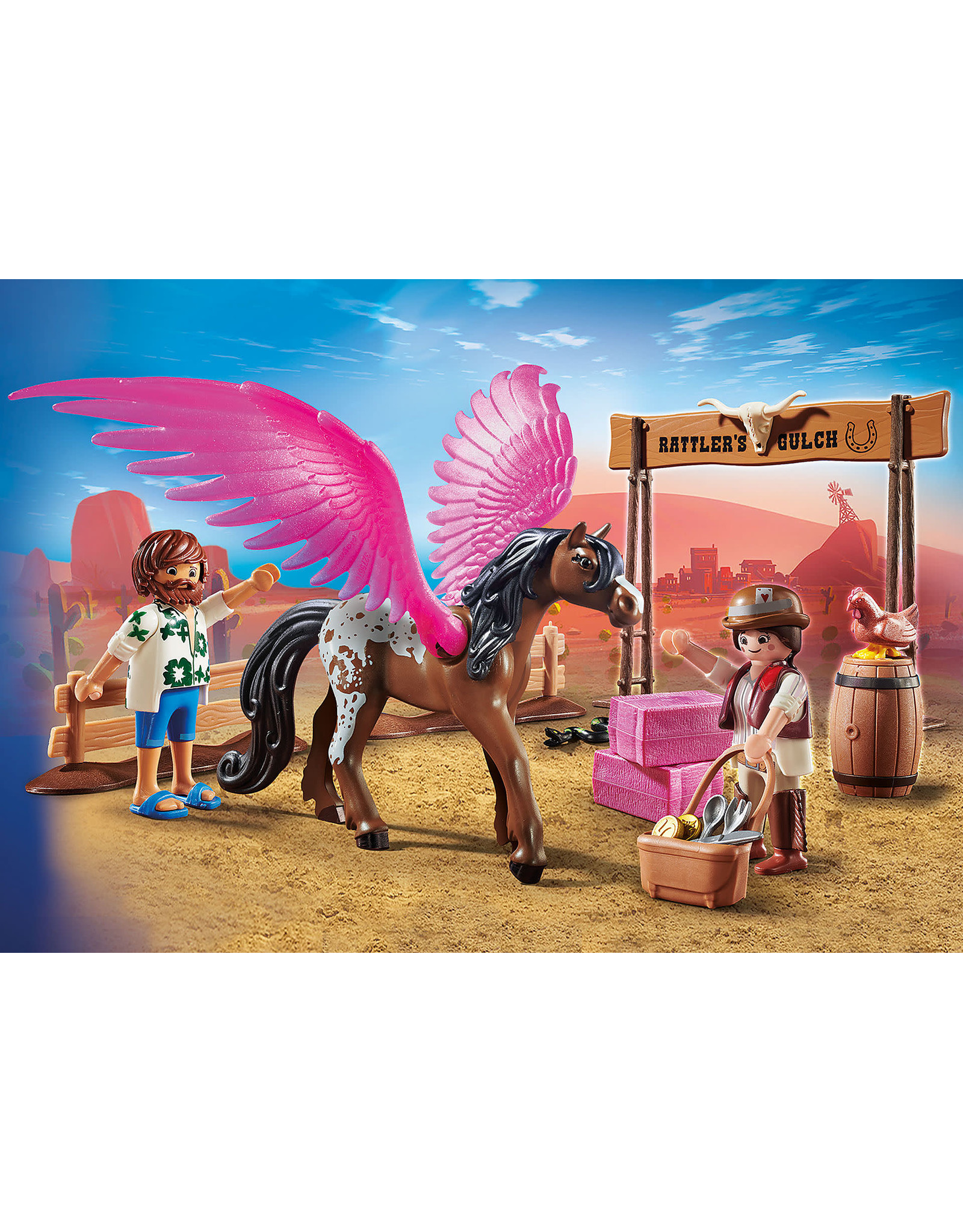 Playmobil Playmobil The Movie, Marla and Del with Flying Horse