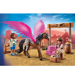 Playmobil PLAYMOBIL THE MOVIE: Marla and Del with Flying Horse