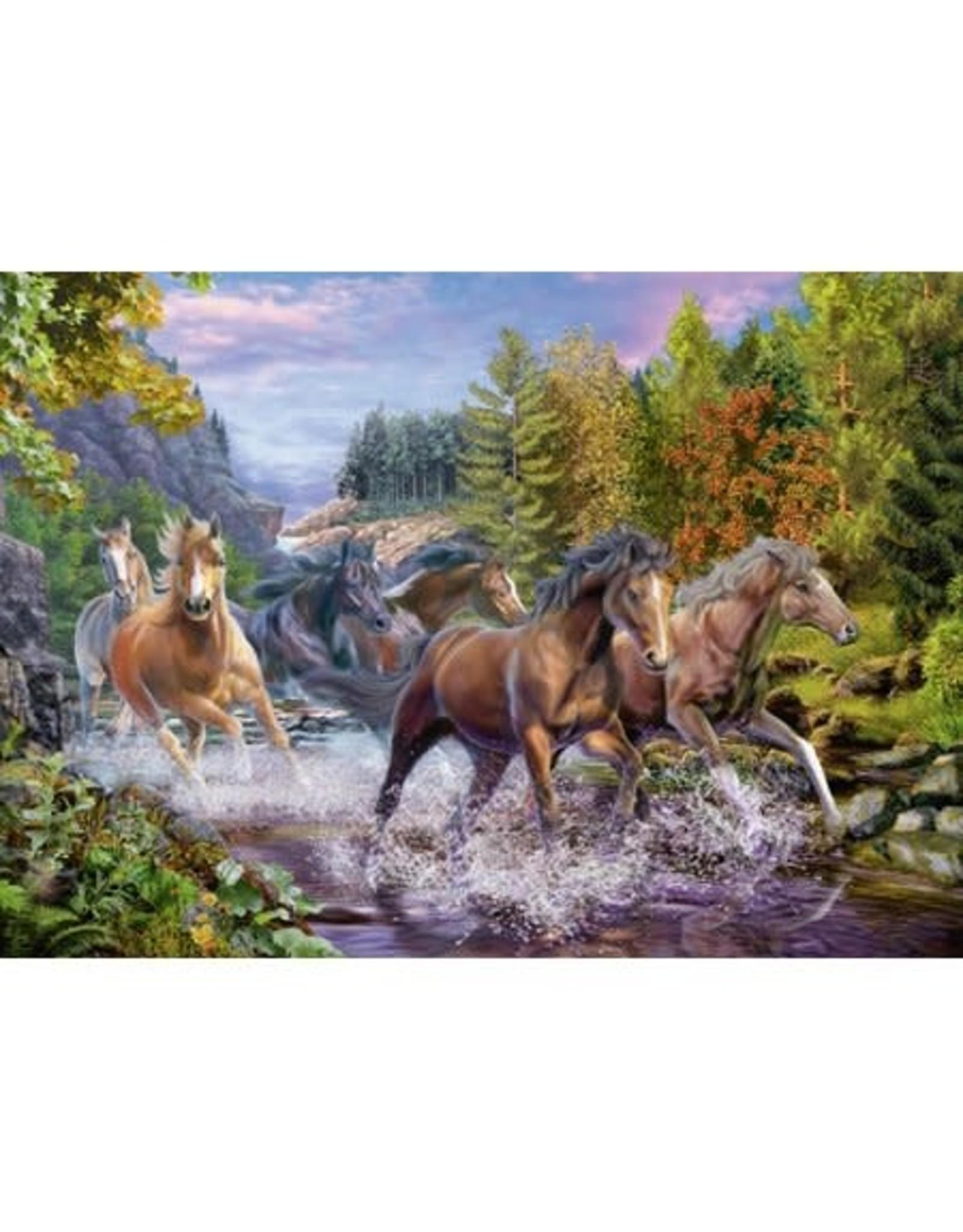 Ravensburger 100 pcs. Rushing River Horses Puzzle