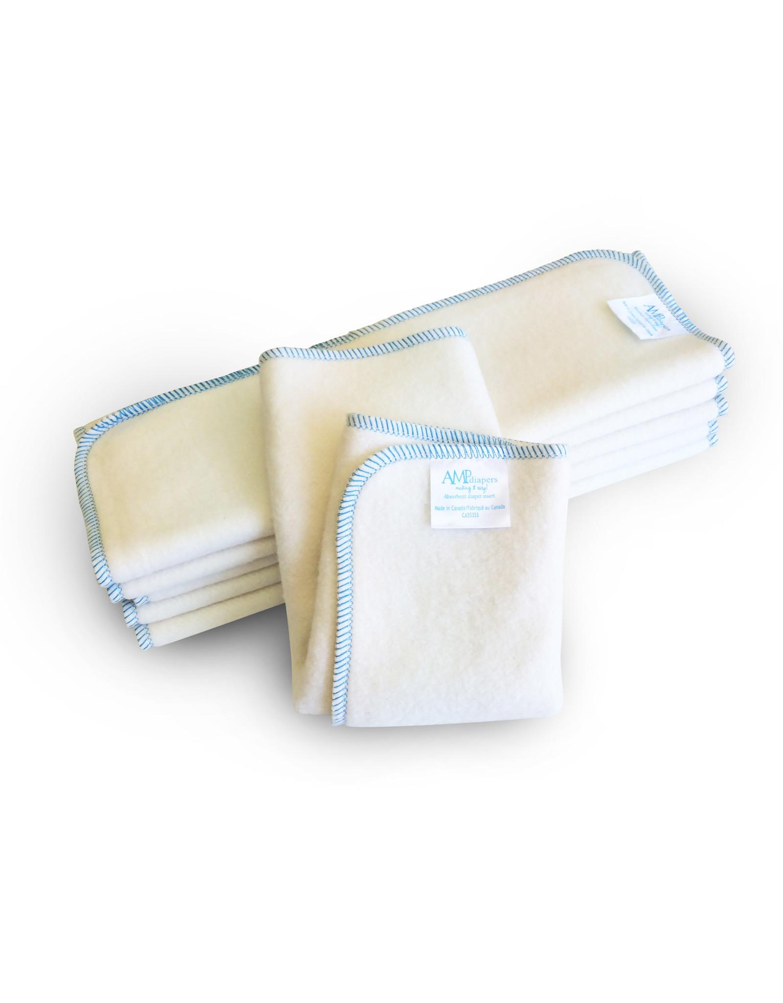 AMP Diapers 2 Layer Hemp Diaper Insert