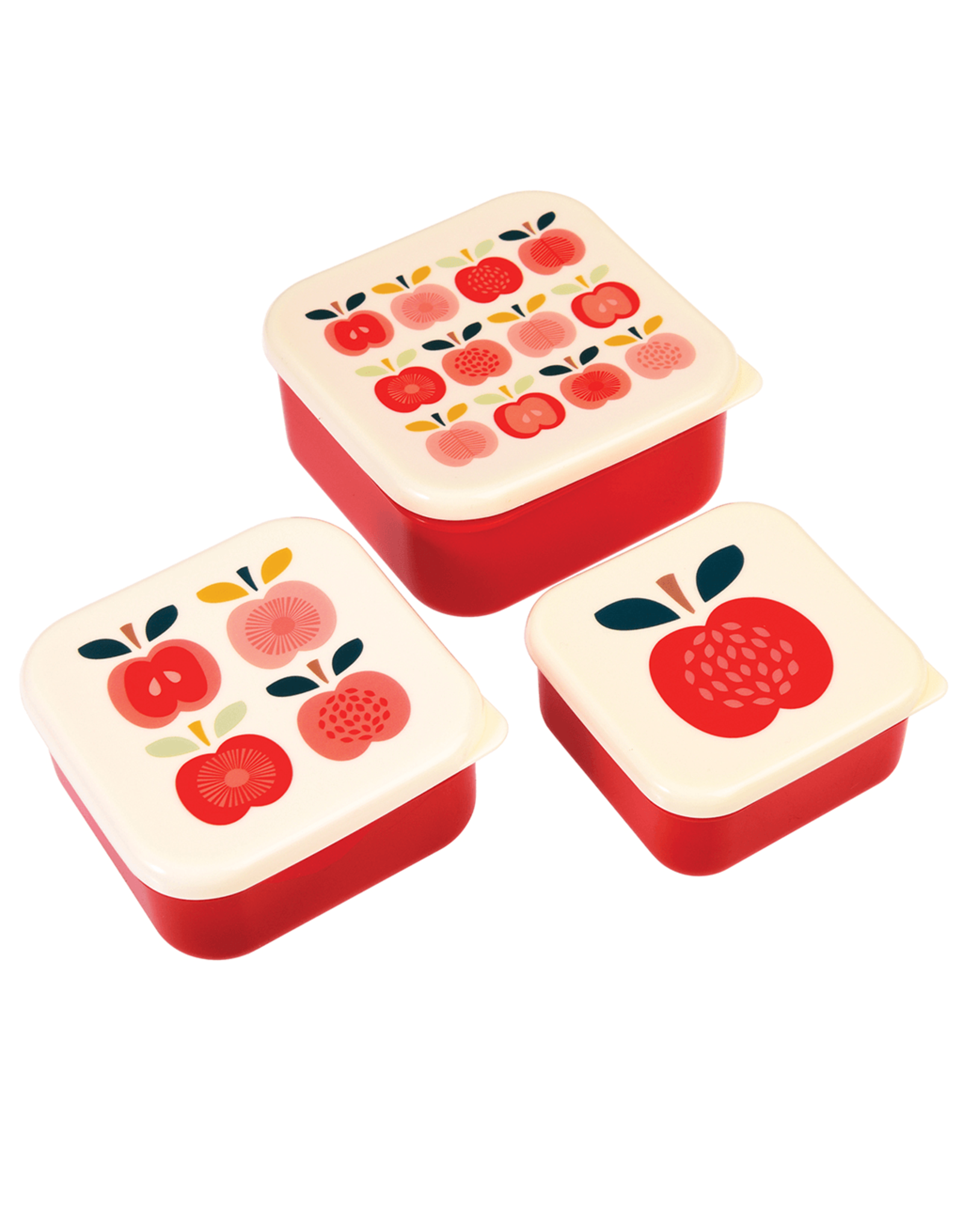 REX London Snack Boxes, Vintage Apple, Set of 3