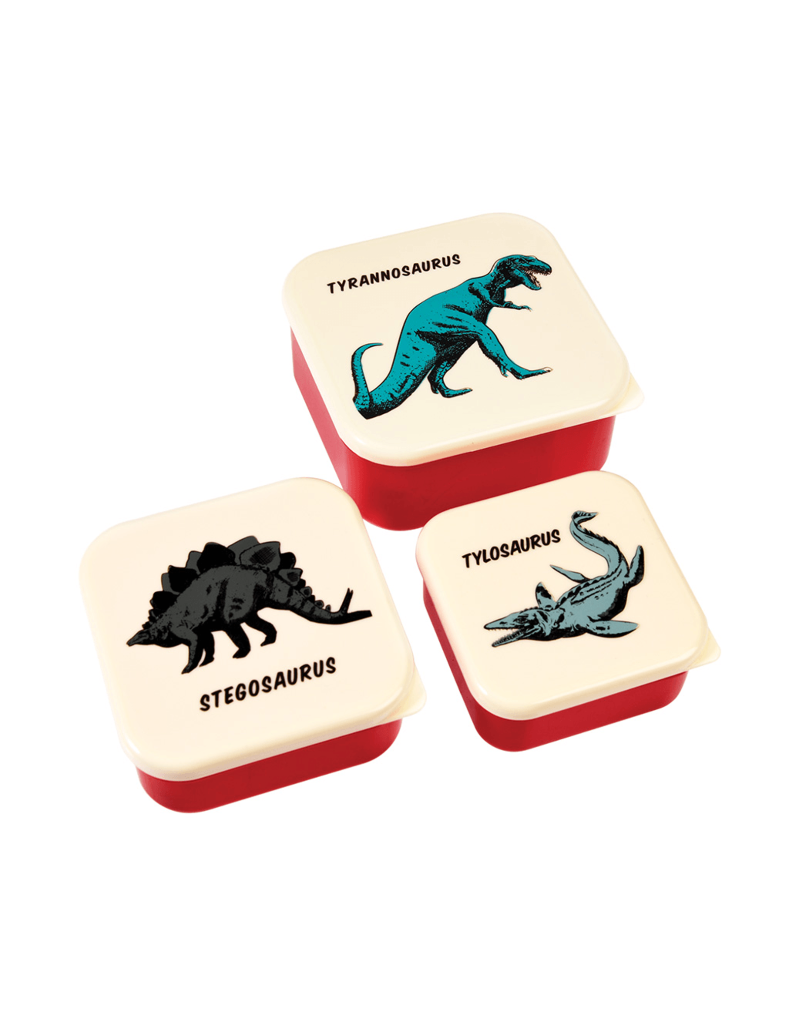 REX London Snack Boxes, Prehistoric Life, Set of 3