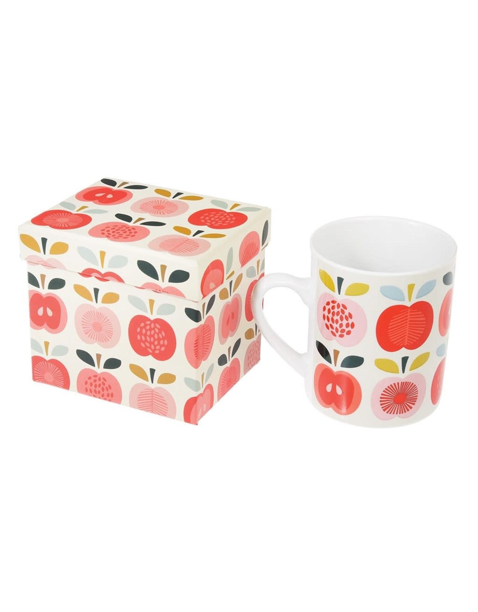 REX London Mug with Gift Box, Vintage Apple