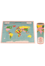 REX London 300 pcs. Puzzle in a Tube, World Map