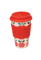 REX London Reusable Bamboo Travel Mug, Vintage Apple
