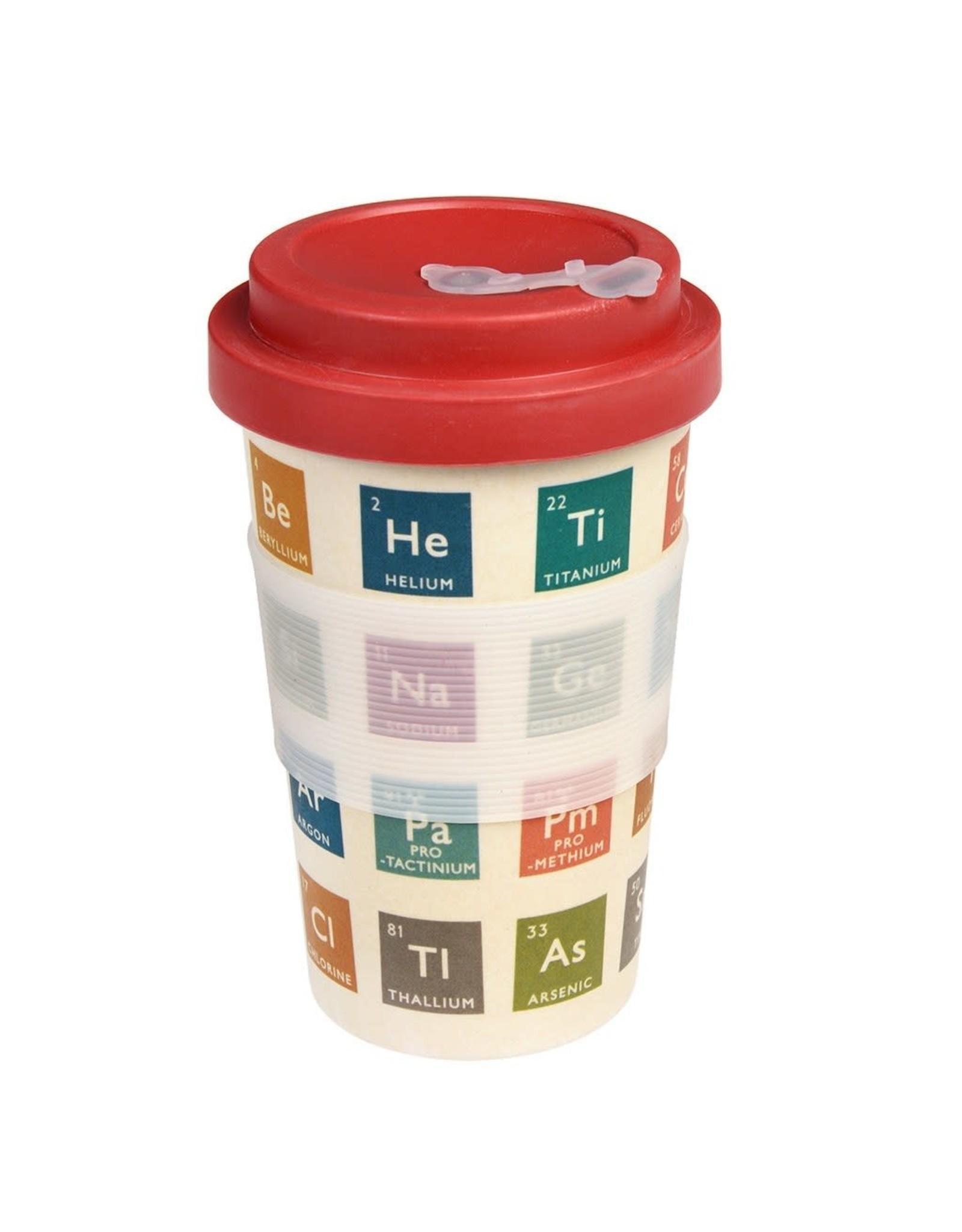 REX London Reusable Bamboo Travel Mug, Periodic Table