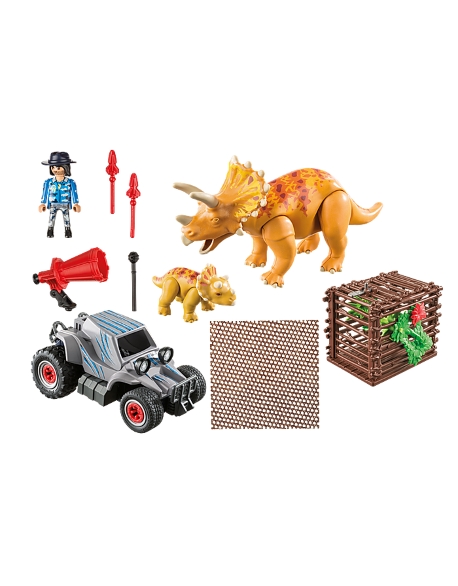 Playmobil Enemy Quad with Triceratops,