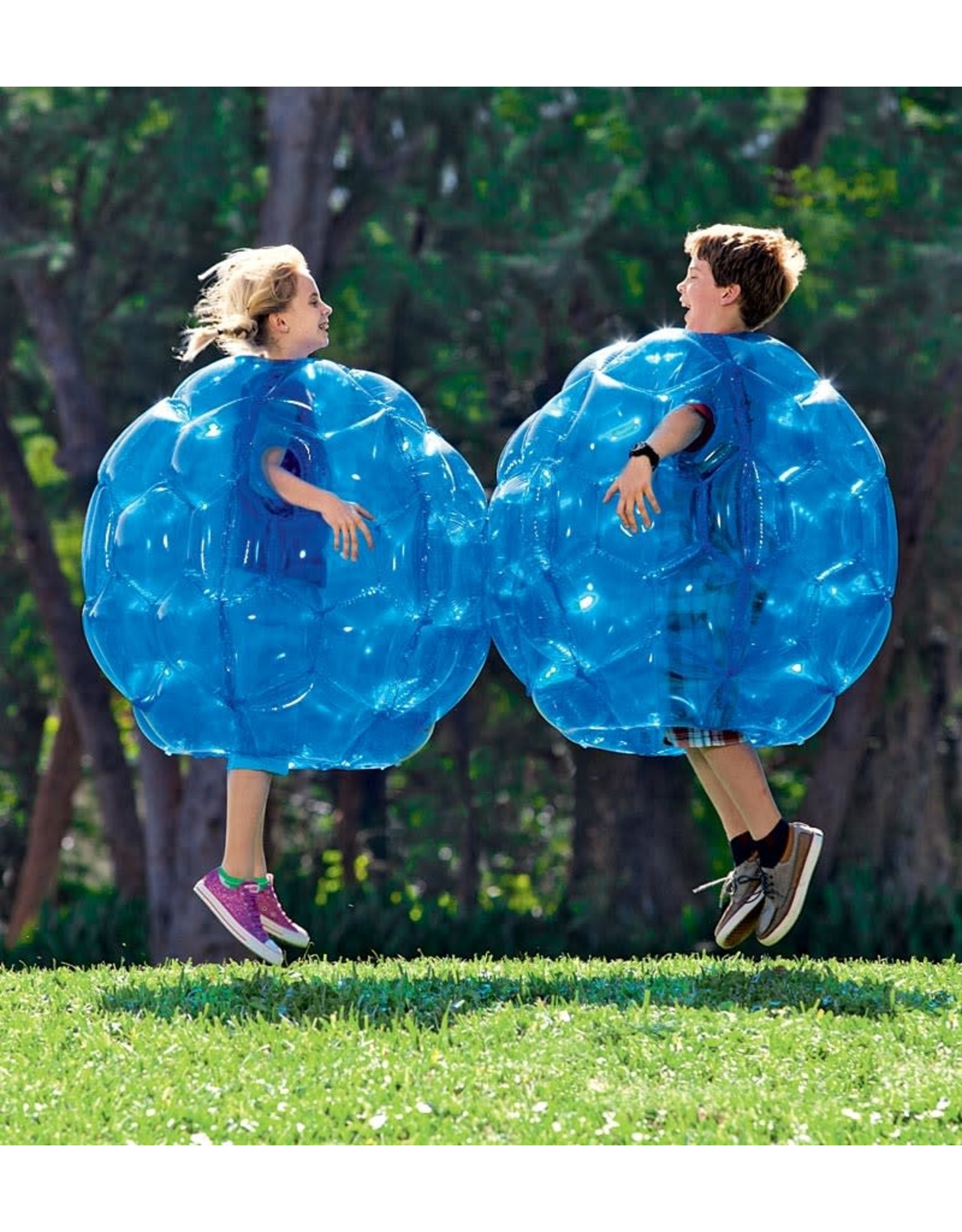 HearthSong Blue Inflatable Buddy Bumper Balls, Set of 2