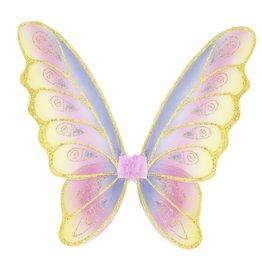 Great Pretenders Glitter Rainbow Wings, Pastel/Gold