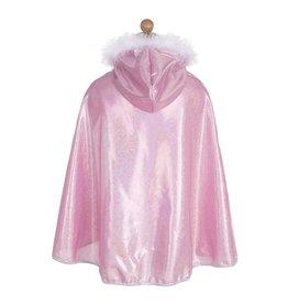 Great Pretenders Glitter Princess Cape, Pink, Size 4-6