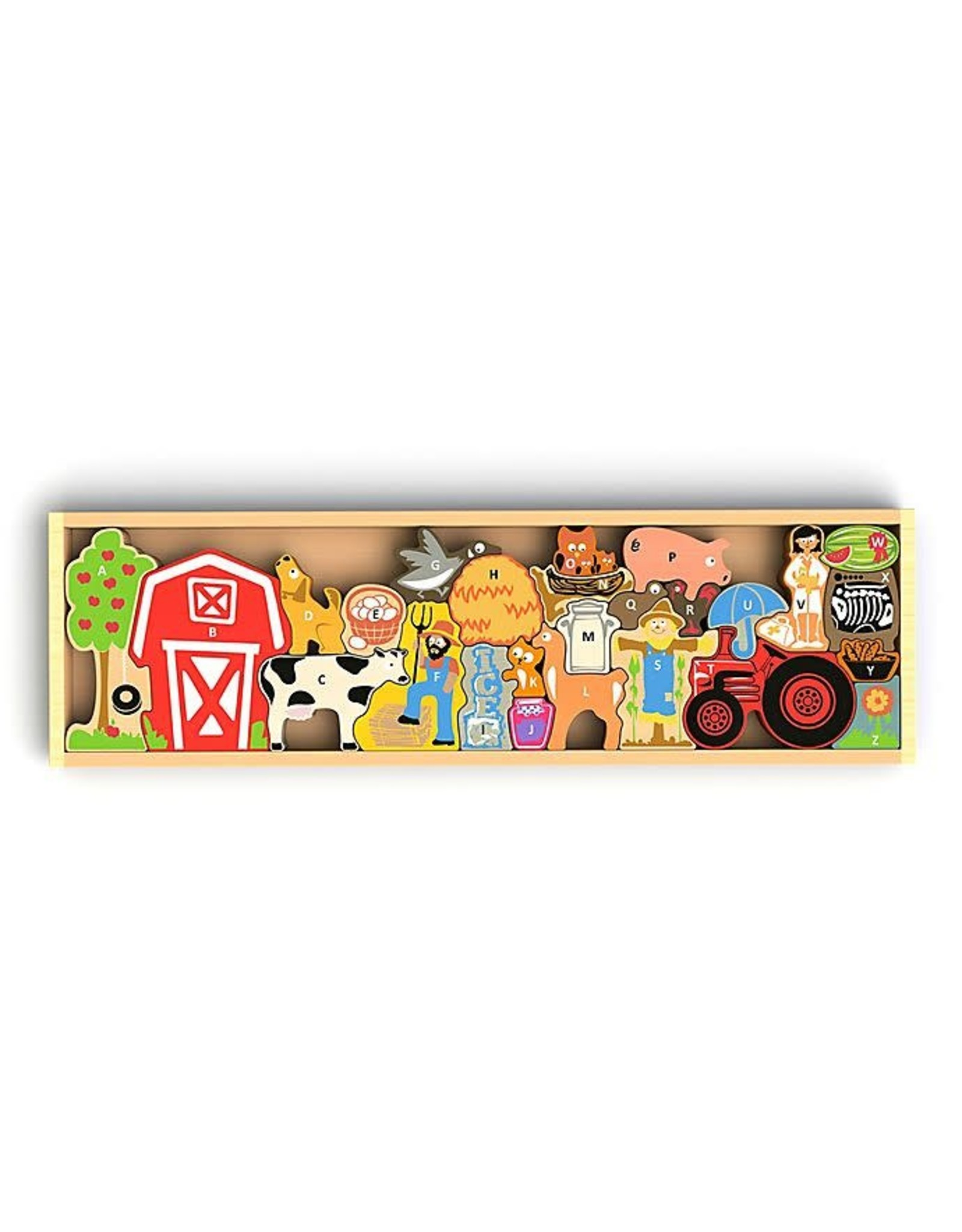Begin Again 26 pcs. Farm A to Z Puzzle & Playset