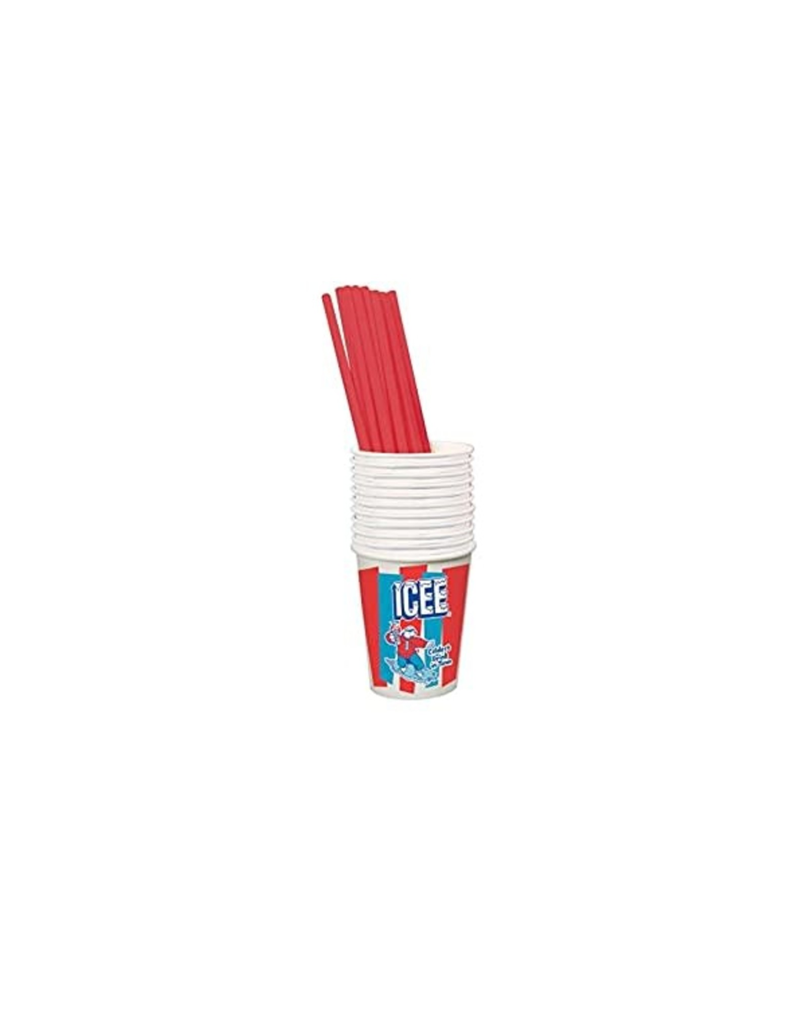 Iscream ICEE 20 Paper Cups & Straws