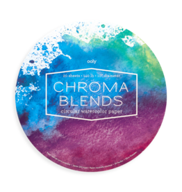 Ooly Chroma Blends Circular Watercolor Paper