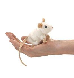 Folkmanis Mini Finger Puppet, White Mouse