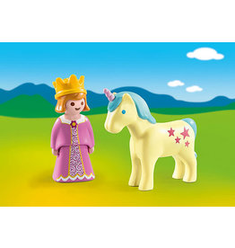 Playmobil 1.2.3 Princess with Unicorn