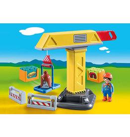Playmobil 1.2.3 Construction Crane