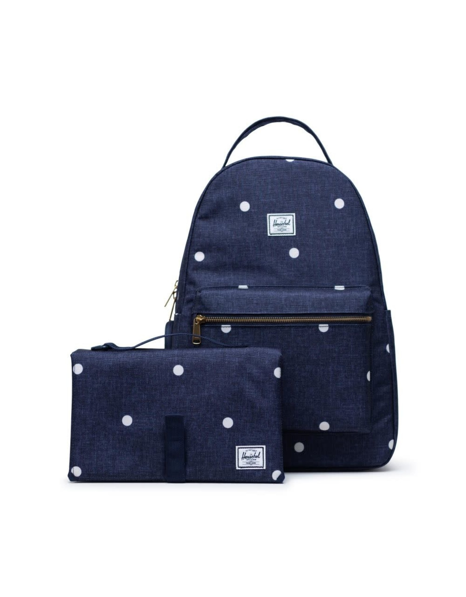 Herschel Supply Herschel Nova Sprout Backpack, Polka Dot Crosshatch Peacoat