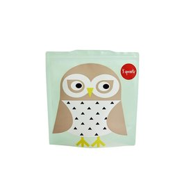 3 Sprouts Sandwich Bag 2pk, Mint Owl