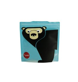 3 Sprouts Sandwich Bag 2pk, Teal Bear