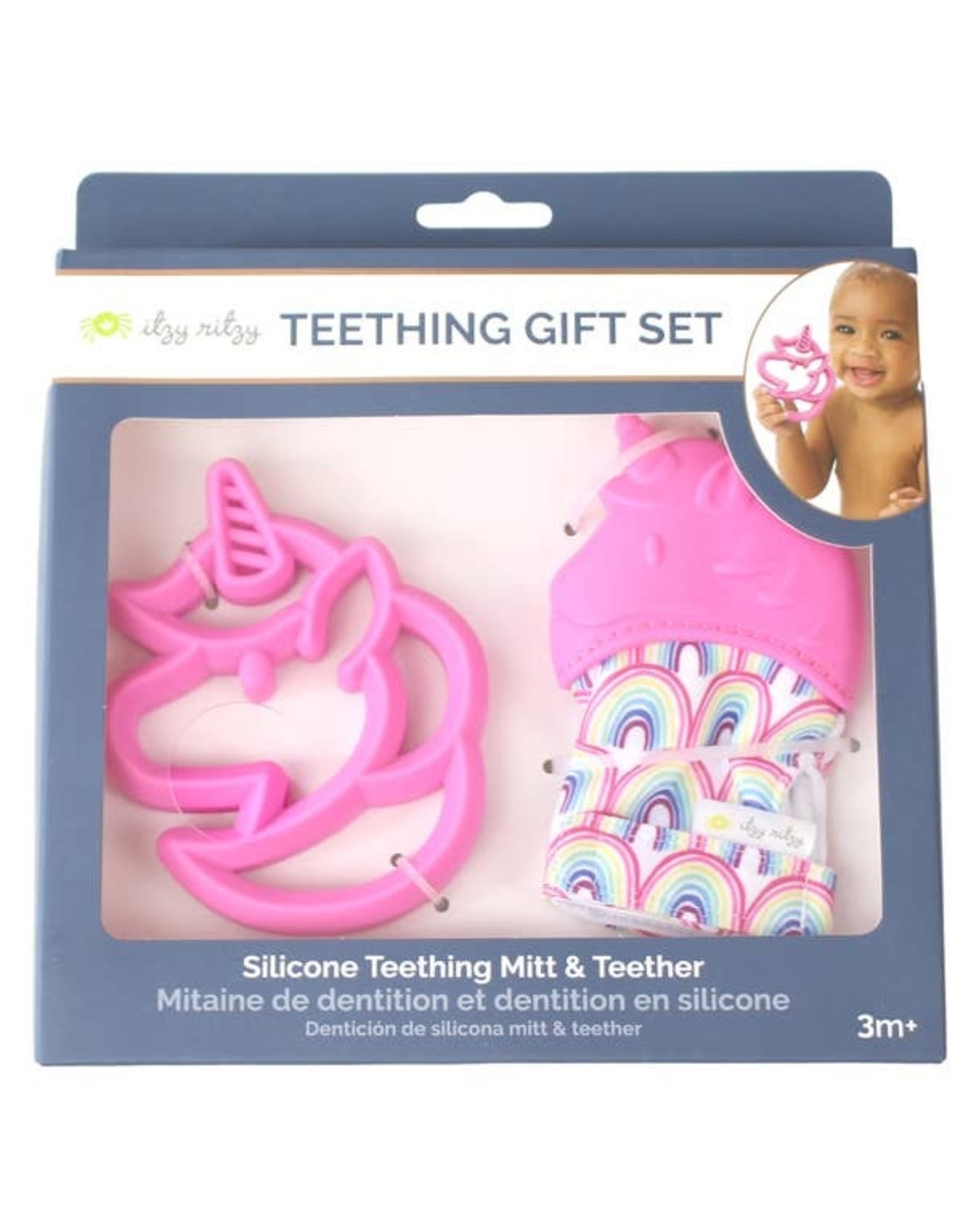 Itzy Ritzy Unicorn Teething Mitt & Teether Gift Set