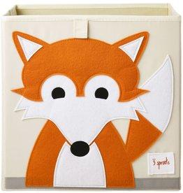 3 Sprouts Storage Box, Orange Fox